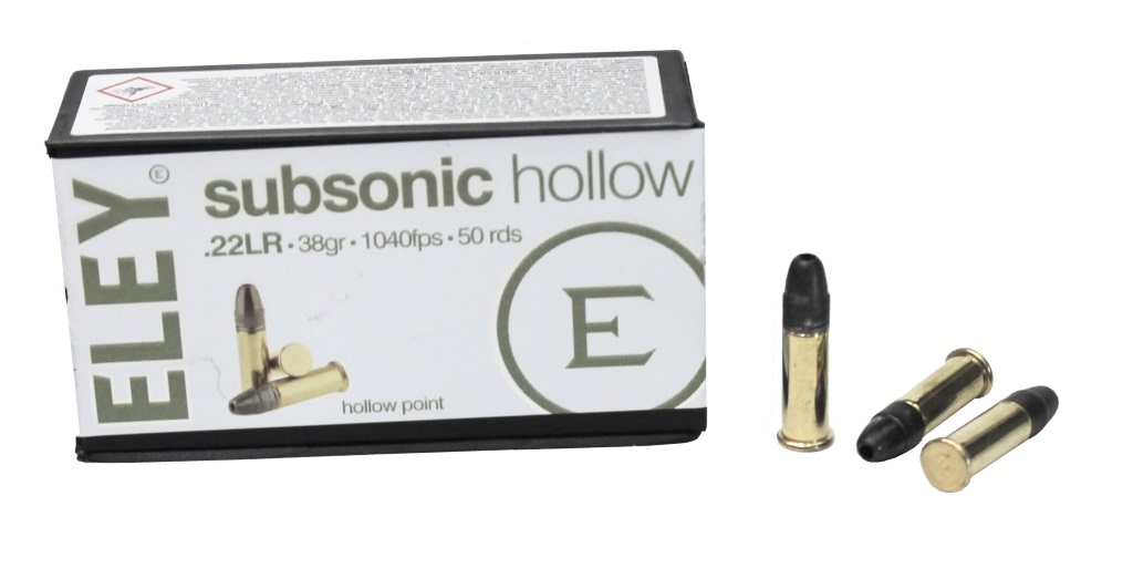 Патрон 22 LR SUBSONIC HOLLOW (ELEY) 05400